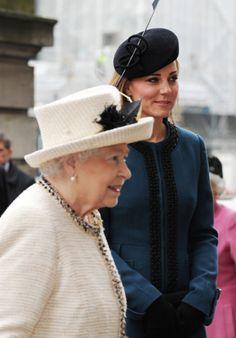 Princess Kate and Queen Elizabeth II