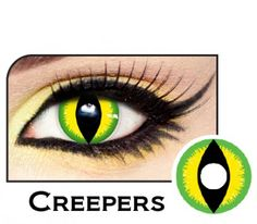 Cat Eye Contacts, Cat Costumes, Creepers, Halloween Makeup, Eyes, Green, Nuthatches, Haloween Makeup, Cat Eyes