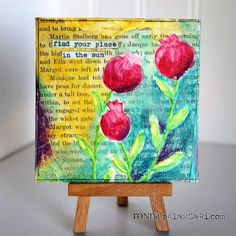 """Ronda Palazzari using the Balzer Designs """"Poppies"""" stencil and blowing my mind!"""