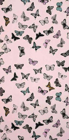 Trippy Wallpaper, Tumblr Wallpaper, Pink Wallpaper, Flower Wallpaper, Cartoon Wallpaper, Cute Patterns Wallpaper, Aesthetic Pastel Wallpaper, Aesthetic Wallpapers, Butterfly Wallpaper Iphone