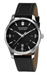 Victorinox Swiss Army Men's 241474 Alliance Black Dial and Strap Watch | Citizen Watches For You And Her