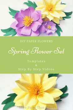 Easy Paper Flower Templates and Tutorials – SVG and PDF files. Easy Paper Flower Templates and Tutorials – SVG and PDF files. Paper Flowers Diy, Flower Crafts, Diy Paper, Paper Crafts, Crafts For Teens, Diy And Crafts, Craft Wedding, Flower Template, Craft Videos