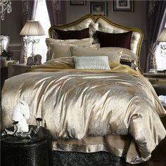 Cheaper Jacquard duvet cover set bedding cotton sets super king queen bed clothing bed linen ropa de cama home textile Luxury