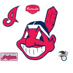 45 in. H x 35 in. W Cleveland Indians Alternate Logo Wall Mural, Multi