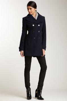 Notch Collar Rib Coat