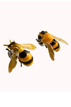 Busy bee earrings - fall 2011  DELFINA DELETTREZ