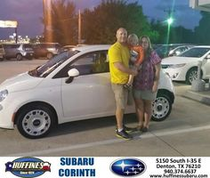https://flic.kr/p/N5giux | #HappyAnniversary to Bill and your 2012 #Fiat #500 from Cate Young at Huffines Subaru Corinth! | www.deliverymaxx.com/DealerReviews.aspx?DealerCode=XDJB