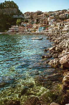 Parga Old Town ~ Greece.     This can't be real.
