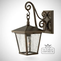 Trellis small wall lantern in Regency Bronze