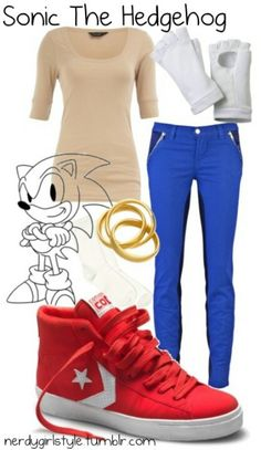 sonic outfit #sonic the hedgehog