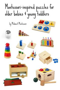 Midwest Montessori — Baby and toddler puzzles and fine motor materials Toddler And Baby Room, Baby Play, Toddler Toys, Montessori Toddler, Montessori Toys, Montessori Bedroom, Puzzles For Toddlers, Toddler Puzzles, Becoming Mom