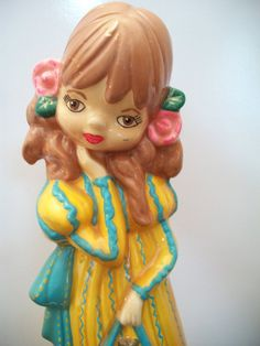vintage girl holding purse statue girl by ALEXLITTLETHINGS on Etsy, $29.99