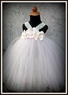 flower girl tutu dress by gurliglam on Etsy, $45.00