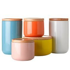 LeeAnn Yare-General Eclectic canisters Love the pink one especially!