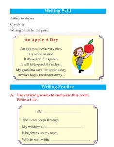 English Writing Skills, English Reading, Teaching English, Learn English, 2nd Grade Grammar, English Grammar Worksheets, Preschool Learning, English Words, Reading Skills