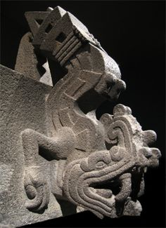 """As one awakens, the heart becomes a rarefied organ of perception...""    The Aztec fire serpent Xiuhcoatl, guardian of the celestial sun and an aspect of the 'refining fire' that purifies the emotional centre. From the Aztec capital Tenochtitlan, Mexico, 1325-1521 AD.  Copyright © 2008, Being Present"