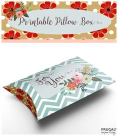 Free print and fold Valentine Pillow Box Craft Printable. Great for Pinterest. More Valentine Recipes and Crafts on Frugal Coupon Living.