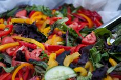 """Delicious salad to complement the brick oven pizza by """"Pie on the Fly"""""""
