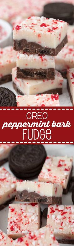 Oreo Peppermint Bark Fudge Recipe About Crazy For Crust - The Best Christmas . - Oreo Peppermint Bark Fudge Recipe About Crazy For Crust – The Best Christmas Cookies, Fudge, Swee - Köstliche Desserts, Delicious Desserts, Dessert Recipes, Plated Desserts, Brittle Recipes, Fudge Recipes, Candy Recipes, Oreos, Holiday Treats