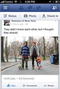 Humans of New York's great words
