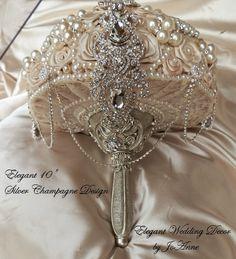 CUSTOM BROOCH BOUQUET- Deposit for this Elegant Brooch Bouquet, Bouquet , Wedding Bouquet, Brooch bouquet