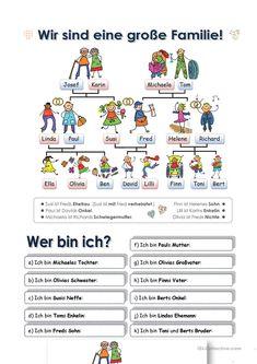 One-click print document Study German, Learn German, German Grammar, Family Theme, German Language Learning, Teaching Colors, British American, Children, Kids