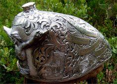 custom gas tank engraving - godspeed | otto carter