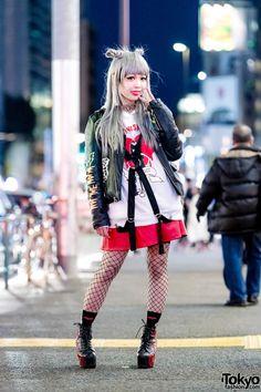 Harajuku J-Pop Singer w/ Listen Flavor, UNIF, Joyrich & Jeffrey Campbell Booties