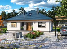 DOM.PL™ - Projekt domu ARP TRYTON 3 B CE - DOM AP2-28 - gotowy koszt budowy Home Fashion, House Plans, Construction, House Design, Cabin, Mansions, Architecture, House Styles, Outdoor Decor