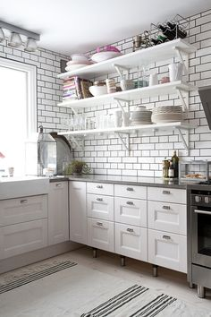 Cool idea on how to make an ADA kitchen not look soo ADA!