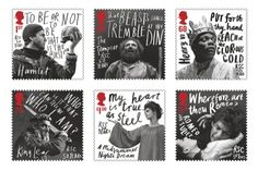 Royal Mail Shakespeare Stamps, lettering by Marion Deuchars