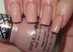 I have this color and I love it. Such a great way to spice up your nails while still being in the nude/neutral family.