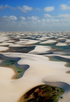Len& Maranhenses National Park sand dunes and lagoons, Brazil Places Around The World, Oh The Places You'll Go, Places To Travel, Places To Visit, Around The Worlds, Parc National, National Parks, Lençóis Maranhenses National Park, Wonderful Places
