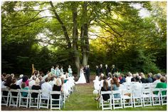 """Say """"I do"""" under the huge old growth beech trees on the lawn of Beech Grove. This naturally secluded space is perfect for  your outdoor #ceremony or #reception at Woodland Park Zoo! www.zoo.org/planyourevent #zoowedding"""