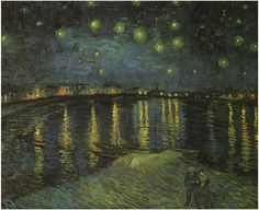 Van Gogh: Starry Night Over the Rhone  Painting, Oil on Canvas  Arles, France: September, 1888  Musée d'Orsay  Paris, France, Europe