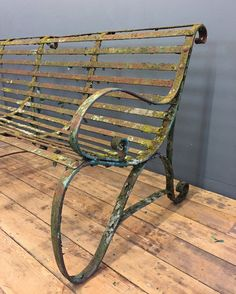 Antique Wrought Iron Garden Bench - Yew Tree Barn - Lake District