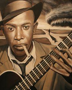. Robert Johnson, Bicycle Girl, Blues Music, Blue Art, Black History Month, Rock N Roll, Musicals, Singer, Illustration