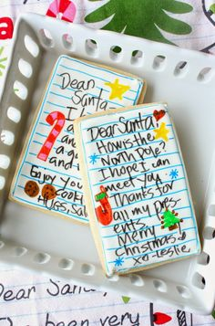 Letters to Santa Cookies by Munchkin Munchies. Super simple and fun for the kids!
