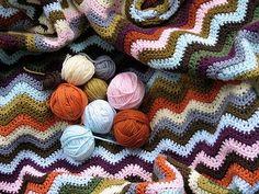 afghan and yarn