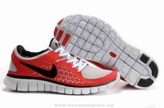 395912-120 Womens Nike Free Run Red Black For Wholesale