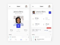 Clinic App by Renat Muratshin Popular Ios App Design, Mobile Ui Design, Ux Design, Motion App, Card Ui, Ios Ui, Ui Inspiration, Visual Communication, Interactive Design