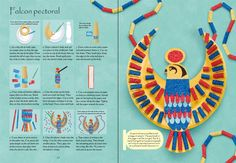 """Egyptian things to make and do"" at Usborne Children's Books Ancient Egypt Activities, Ancient Egypt Crafts, Ancient Egypt For Kids, Egyptian Crafts, Egyptian Party, Egyptian Costume Kids, Egyptian Jewelry, Ancient Aliens, Ancient Greece"