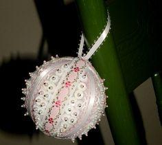 Hand Beaded Holiday Ornaments