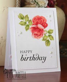 Altenew Vintage Roses, Kylie Purtell, Birthday card, CAS, PTI sentiment