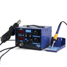 112.50$  Watch now - http://ali6ce.worldwells.pw/go.php?t=32680619761 - 2-in-1 YIHUA 862D+ Soldering Iron Hot Air Rework Heat Gun Solder Station For SMT SMD Welding Repair 112.50$