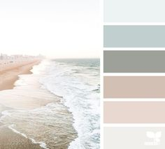 Coastal inspired colour palette