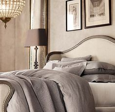 Vintage-Washed Belgian Linen sheets from Restoration Hardware. Nothing feels better than to sleep in these!