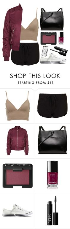 """""""Normal"""" by mode-222 ❤ liked on Polyvore featuring Topshop, NARS Cosmetics, Chanel, Converse and Casetify"""