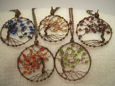 Willow tree of life wire wrap pendant with free by GypsyWhims, $35.00