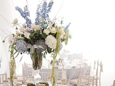 Wisteria Flowers and Gifts | Rustic Dream wedding tent floral centerpiece
